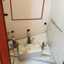 Old toilet gone...
