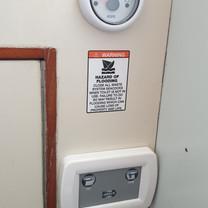 Toilet/head control panel & holding tank level indicator