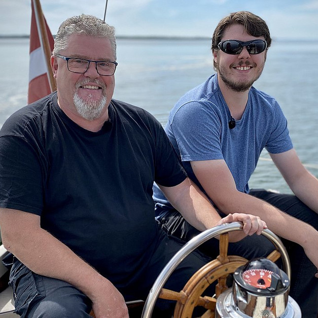 Skipper and son
