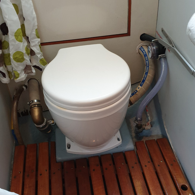 New Jabsco toilet/head in place