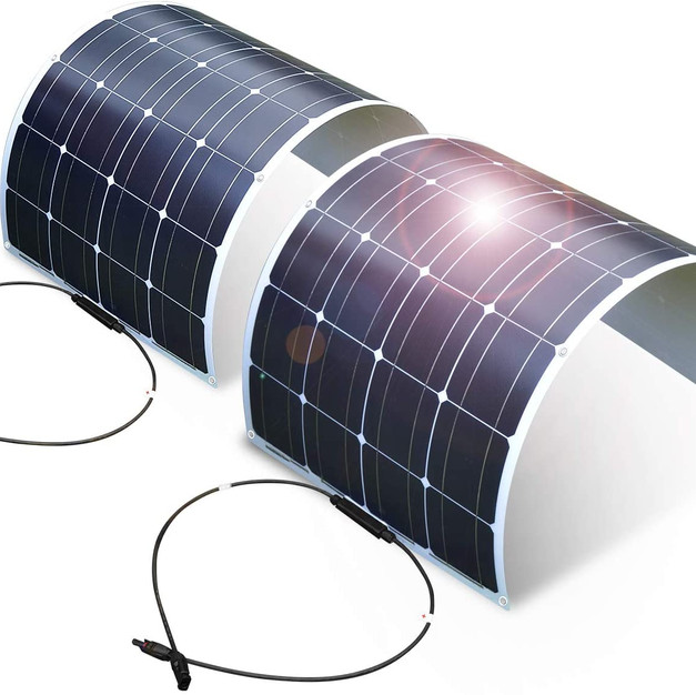 DOKIO 2 x 100 W (200 W) flexible solar panel