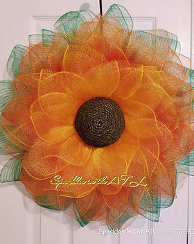 Sunflower wreath class- learn how to make wreaths