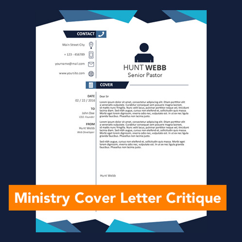 ministry cover letter critique churchjobs - Cover Letter Critique