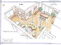Progetto per soggiorno alessandro arnaldo pardini bio edilizia feng shui