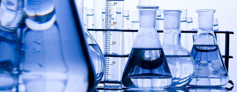 Chemicals in beakers