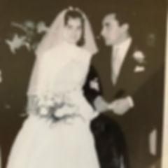 Vintage photo of Elda, founder of Elda's Bridal Boutique, on her wedding day