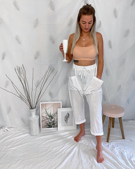 Harem Trousers with drawstring waist