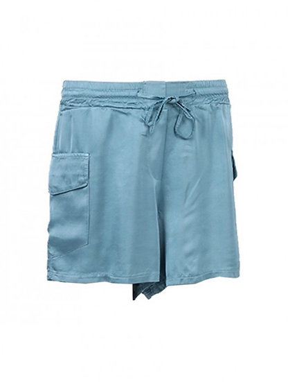 Italian Side Pockets Silk Shorts