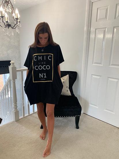 Chic like Coco No 1 black T-shirt dress