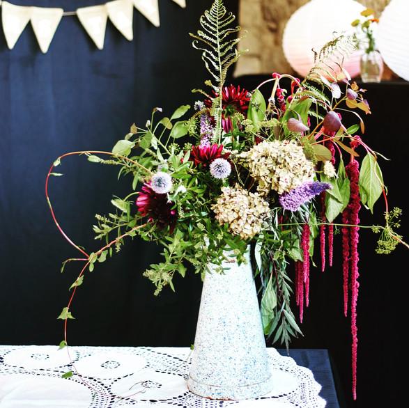 Wildflower table piece