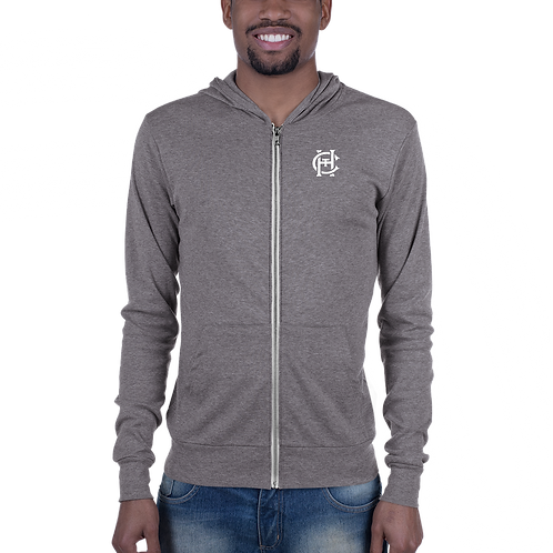 HCT | Unisex Lightweight Bella+Canvas 3939 Zip Hoodie