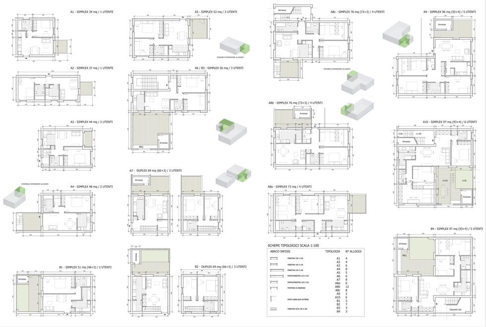 Plans of dwellings