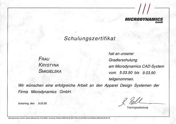 Dyplom Microdynamics Argus CAD-System