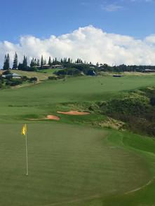 18th hole at Kapalua