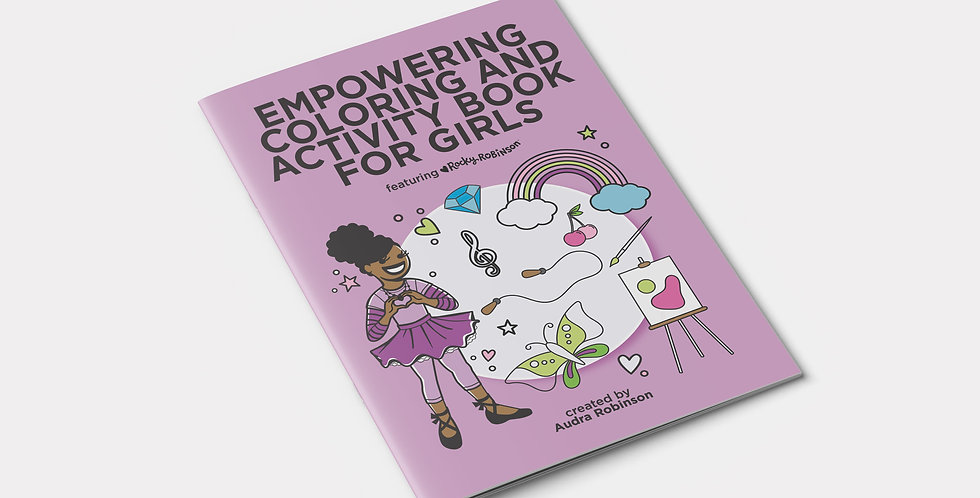 Empowering Coloring and Activity Book for Girls Front View