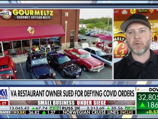 Virginia restaurant owner sued for defying coronavirus restrictions