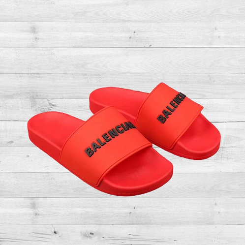 Red Balenciaga Slides