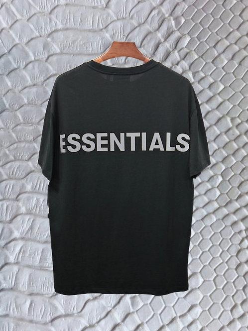 Black Gray Essentials Fear Of God Shirt