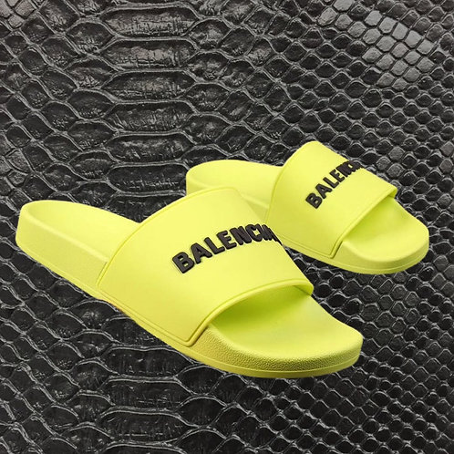 Lime Balenciaga Rubber Slides