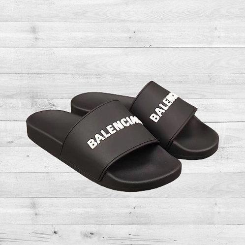 Black White Balenciaga Slides