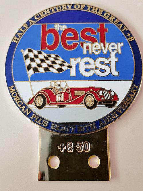 Morgan +8 50 Years Car Badge
