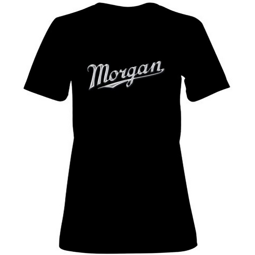 Ladies T-Shirt with Chrome Morgan Script