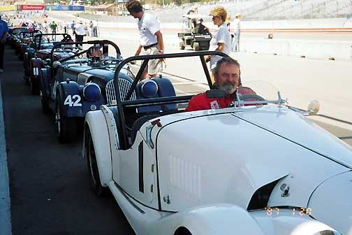 Morgan at the track