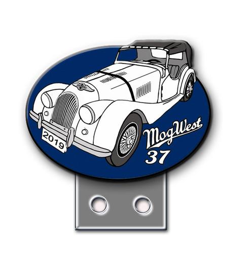 Blue Mogwest Car Badge 45 Members 65 Nonmembers