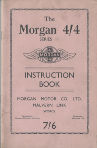 Vintage Morgan 4/4 handbook