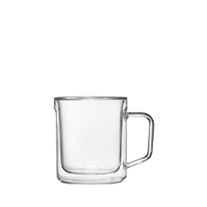 GLASS MUG - 12OZ DOUBLE PACK - CLEAR