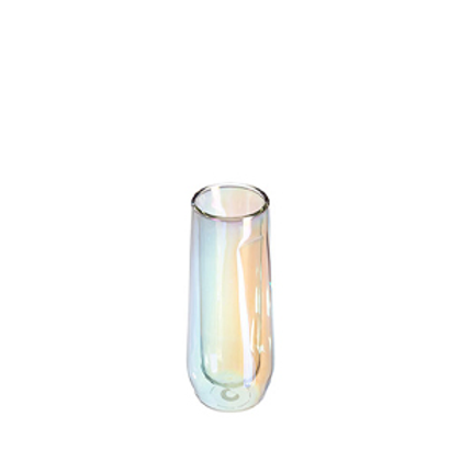 GLASS FLUTE - 7OZ DOUBLE PACK - PRISM