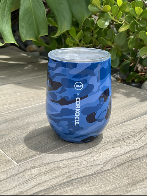 STEMLESS - 12OZ Vineyard Vines Blue Camo