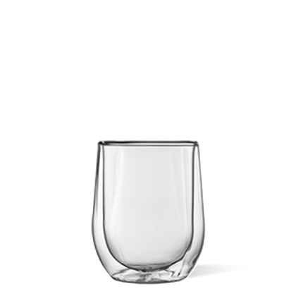 GLASS STEMLESS - SET OF 2 - CLEAR