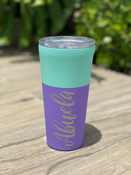 TUMBLER - 24OZ COLOR BLOCK MINT BERRY