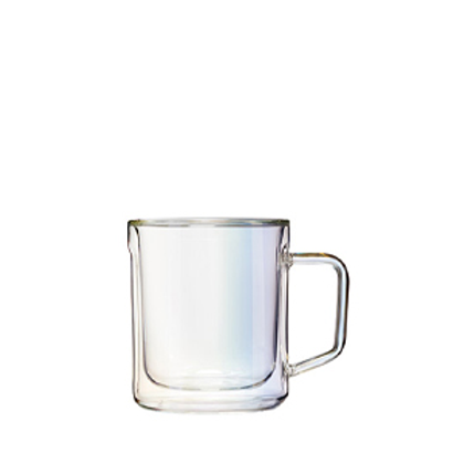 GLASS MUG - 12OZ DOUBLE PACK - PRISM