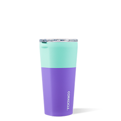 TUMBLER - 16OZ COLOR BLOCK MINT BERRY