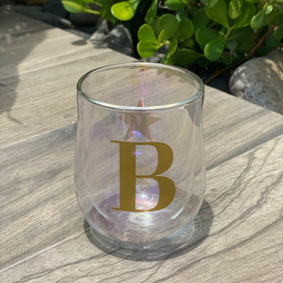 GLASS STEMLESS - SET OF 2 - PRISM