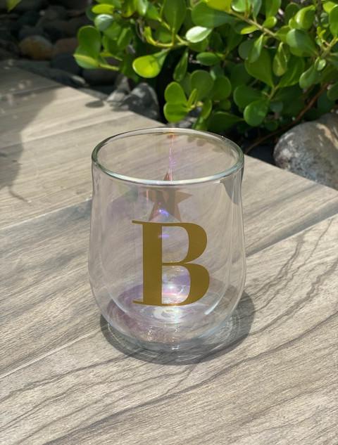 GLASS STEMLESS - SET OF 2 - PRISM
