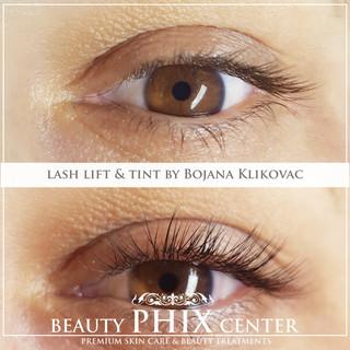 Lash Lift med Ellebana och Lash eller bryn tint med Belmacil by certifierade estetiker och hudterapeut Bojana Klikovac.