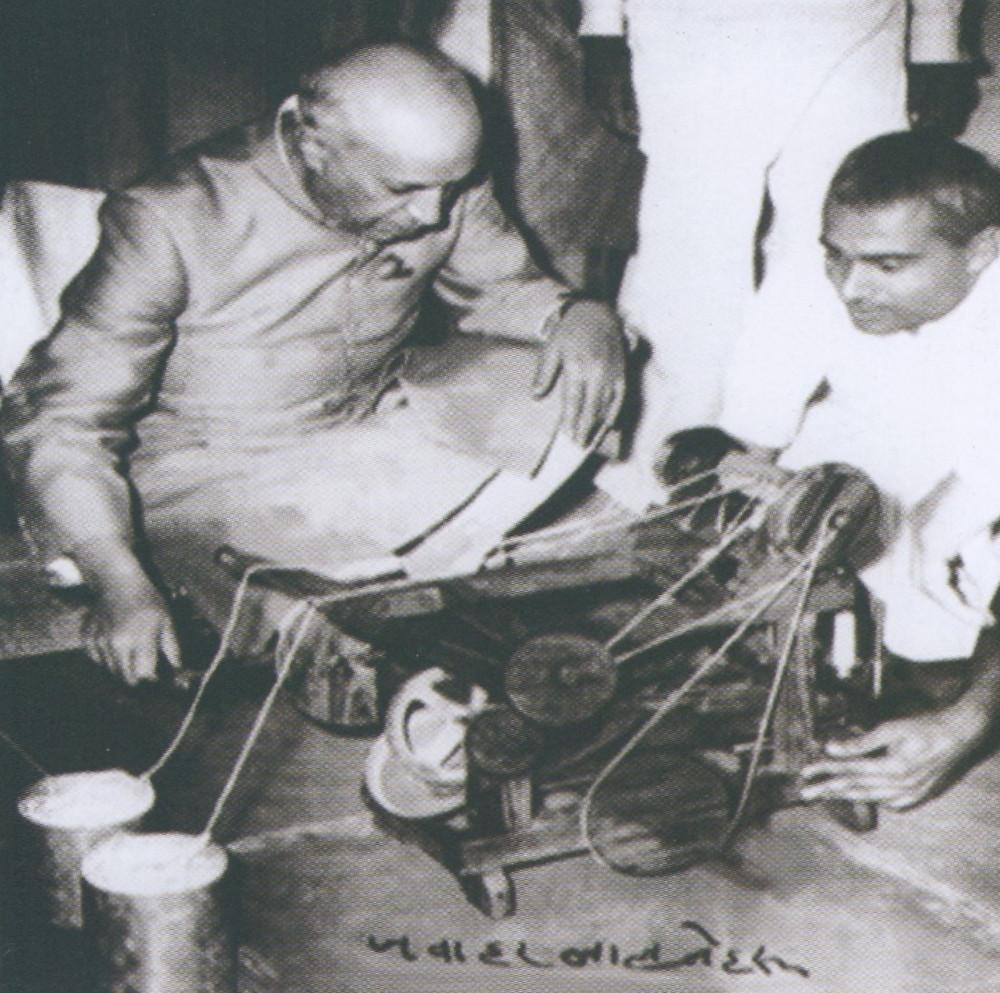 INDIA'S 1ST PRIME MNISTER JAWAHARLAL NEHRU VISITING DATTAPUR
