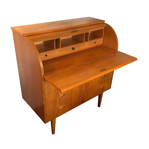 Teak Roll-Top Desk by Egon Ostergaard
