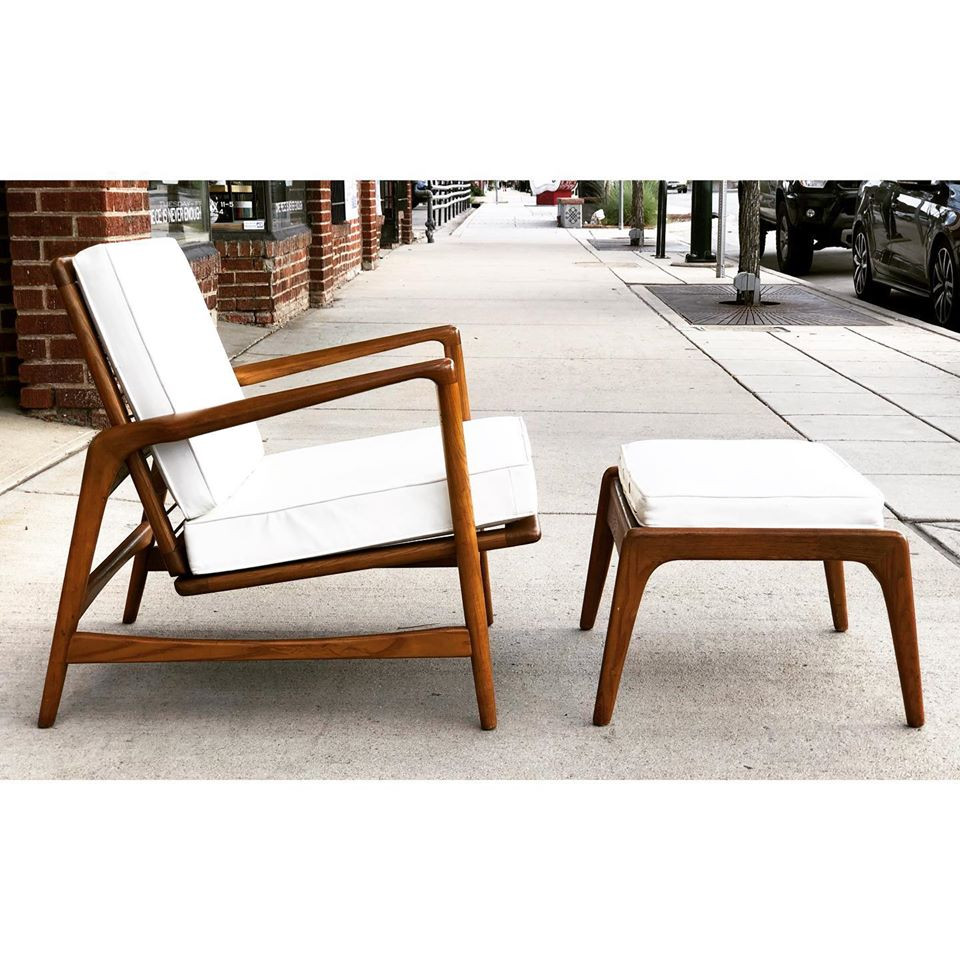 Adjustable Club Chair with Ottoman by Kofod-Larsen for Selig