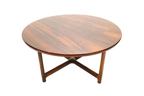 Round Rosewood Coffee Table by Arne Halvorsen for Rasmus Solberg — Norway