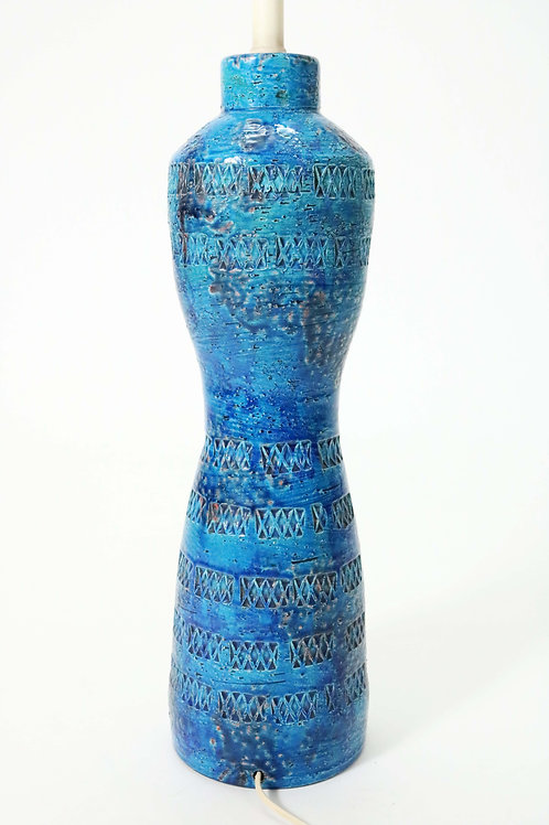 Italian Ceramic Lamp in Rimini Blue for Bitossi (Raymor) by Aldo Londi