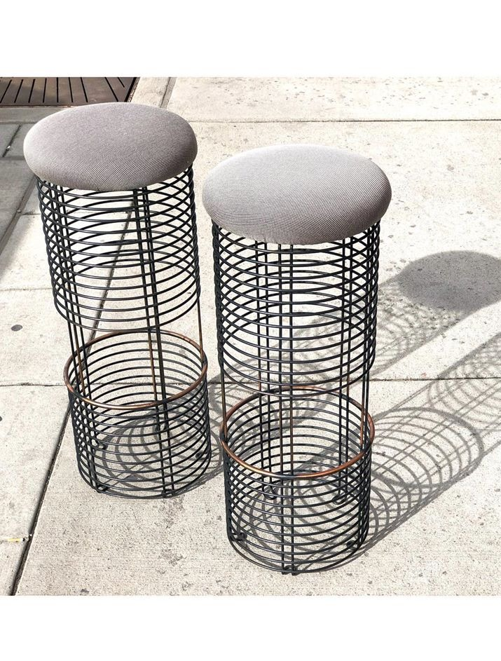 Pair of Bar Stools by Verner Panton