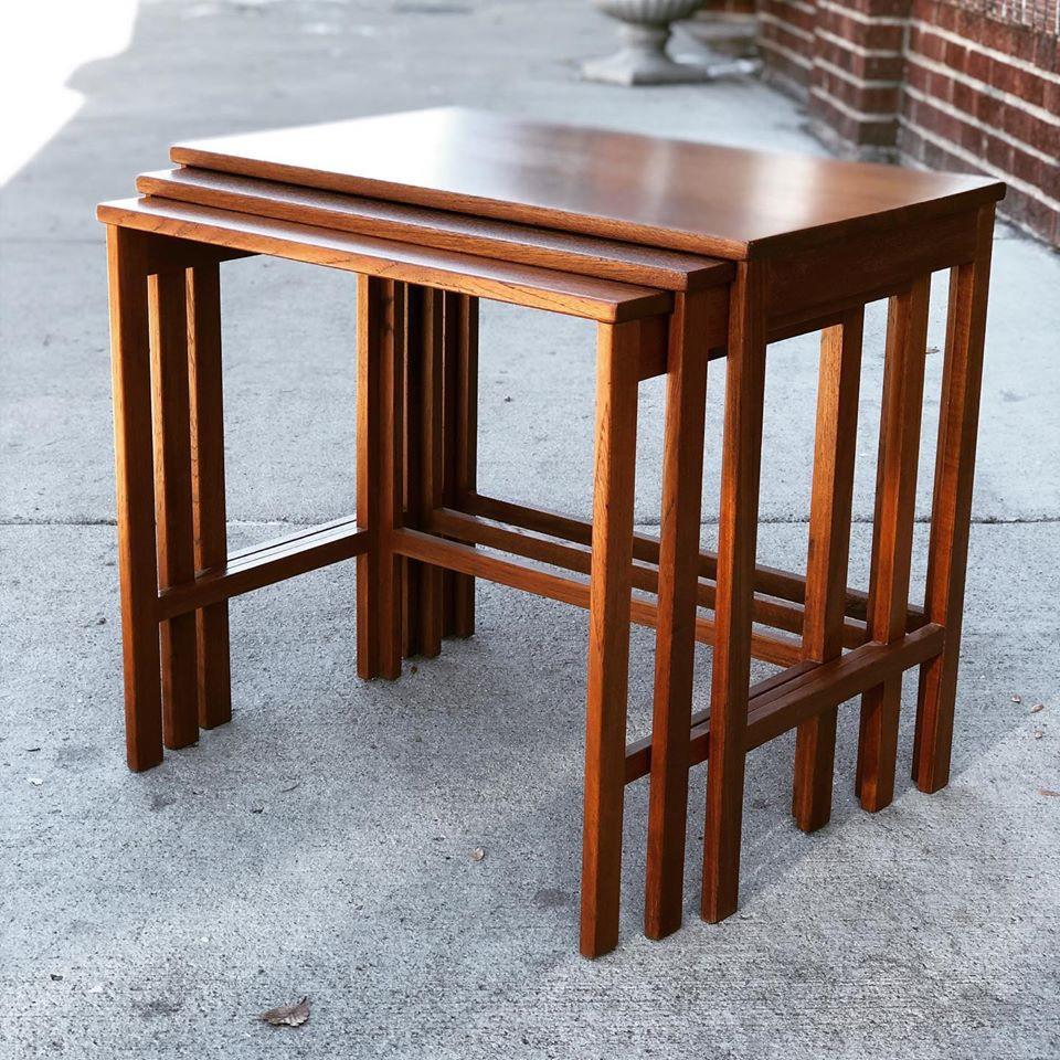 Set of 3 Teak Nesting Tables by Hvidt and Mølgaard for France & Son