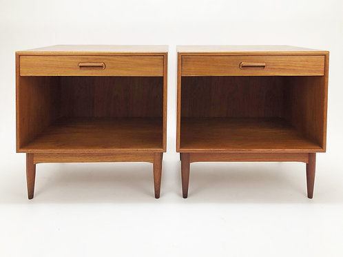 A Pair of Teak Nightstands by Hans C. Andersen Denmark, 1960s