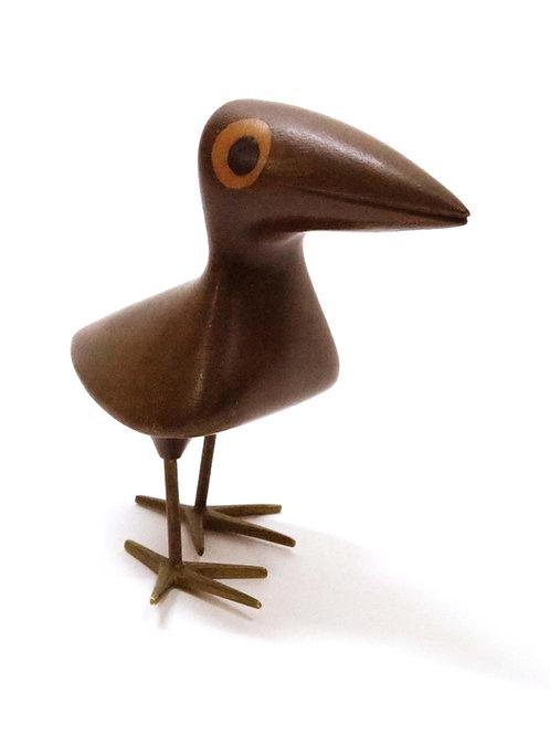 Bird in Inlaid Mahogany and Bronze by Karl Hagenauer for Wiener Werkstätte