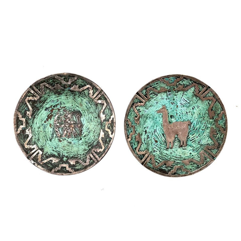Silver and Enamel on Copper Plates by Grazziella Laffi