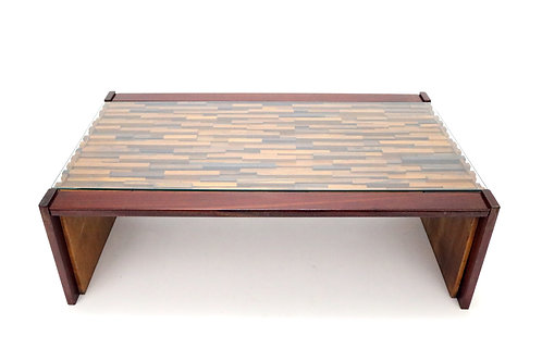 Midcentury Brazilian Brutalist Coffee Table by Percival Lafer